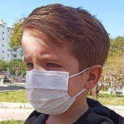 Tip2R Meltblown Korumalı Cerrahi Çocuk Maskesi - Denizci Desenli ve Beyaz Desensiz Karma Paket