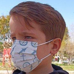 Tip2R Meltblown Korumalı Cerrahi Çocuk Maskesi - Denizci Desenli