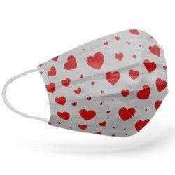 Tip2R Meltblown Korumalı Cerrahi Çocuk Maskesi - Kalp Desenli