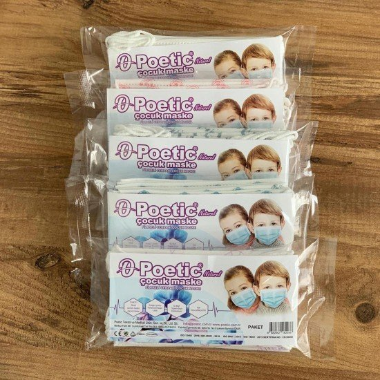 Tip2R Meltblown Korumalı Cerrahi Çocuk Maskesi - Fiyonk Desenli ve Beyaz Karma Paket