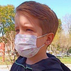 Tip2R Meltblown Korumalı Cerrahi Çocuk Maskesi - Yıldız Desenli
