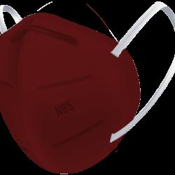 N95 / FFP2 Koruyucu Meltblown Maske Bordo No:2 (Büyük Yüzler İçin)