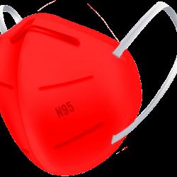 N95 / FFP2 Koruyucu Meltblown Maske Kırmızı No:2 (Büyük Yüzler İçin)