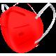 N95 / FFP2 Koruyucu Meltblown Maske Kırmızı No:1 (Küçük Yüzler İçin)