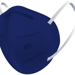 N95 / FFP2 Koruyucu Meltblown Maske Lacivert No:2 (Büyük Yüzler İçin)