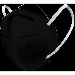 N95 / FFP2 Koruyucu Meltblown Maske Siyah No:1 (Küçük Yüzler İçin)