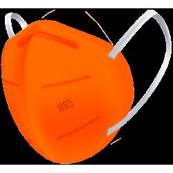 N95 / FFP2 Koruyucu Meltblown Maske Turuncu No:2 (Büyük Yüzler İçin)