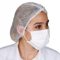 Yetişkin Cerrahi Maske - Beyaz - Tip2R Meltblown Katmanlı 10'lu Sedef Poşet