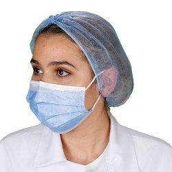 Yetişkin Cerrahi Maske - Mavi - Tip2R Meltblown Katmanlı 10'lu Sedef Poşet