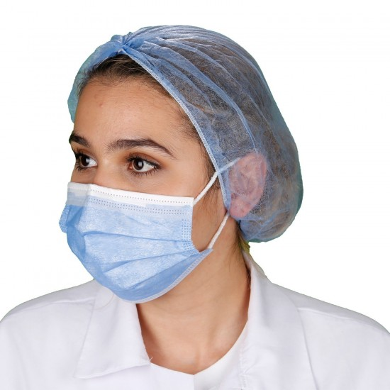 Yetişkin Cerrahi Maske - Mavi - Tip2R Meltblown Katmanlı 50'li Kutu